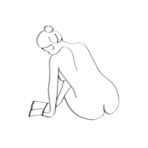Frau mit Buch-Vorschau